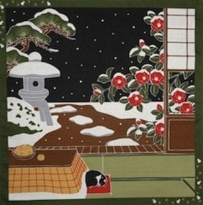 japanese cat fabric